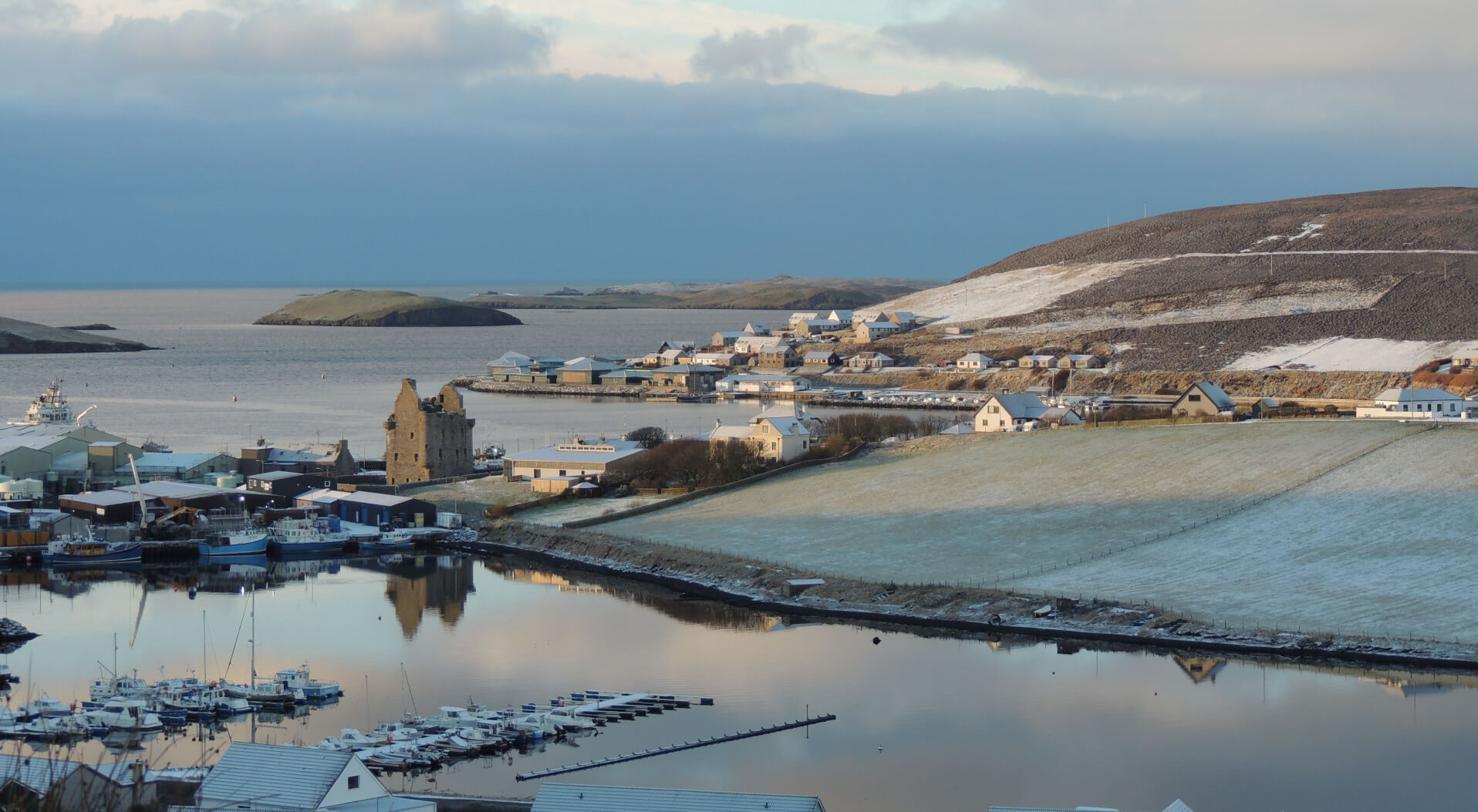 Frosty Photo of Scalloway