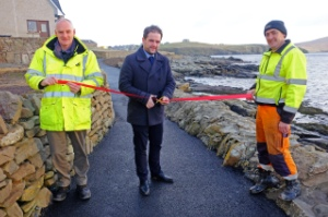 Opening of Sletts footpath - winning project at Shetland Community Choices